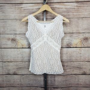 Flexees Everyday Control Lace Cami Tank Top